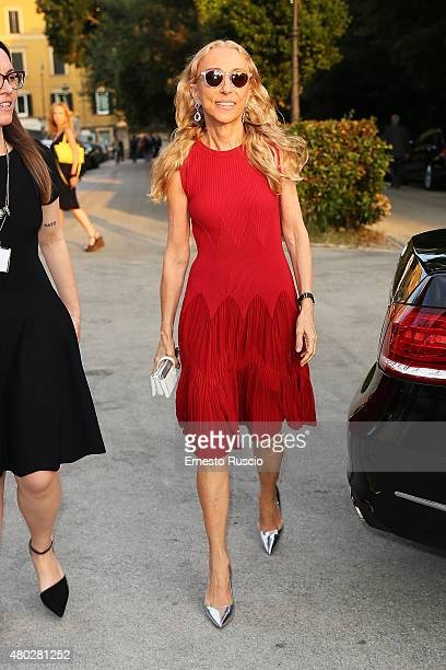 Franca Sozzani attends Coulture/Sculpture Vernissage Cocktail honoring Azzedine Alaia in the history of fashion at Galleria Borghese at Galleria...