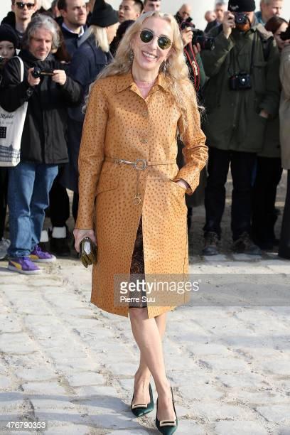Franca Sozzani attends Louis Vuitton show as part of the Paris Fashion Week Womenswear Fall/Winter 2014-2015 on March 5, 2014 in Paris, France.