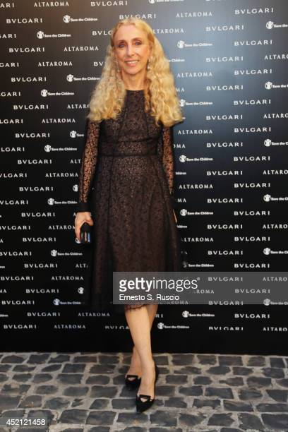 Franca Sozzani attends the 'Isabella Ferrari Forma/Luce' cocktail party at Horti Sallustiani on July 13, 2014 in Rome, Italy.