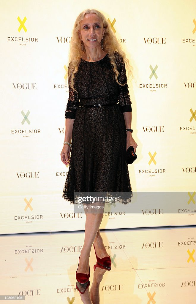 Franca Sozzani attends the opening cocktail party of Excelsior Milano on September 6, 2011 in Milan, Italy.