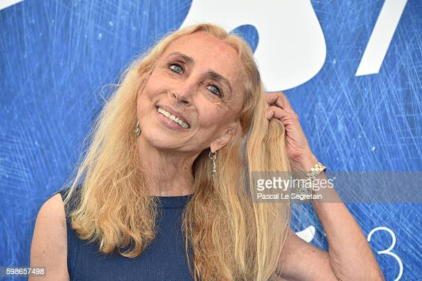 Franca Sozzani attends the photocall of 'Franca: Chaos And Creation' during the 73rd Venice Film Festival at Palazzo del Casino on September 2, 2016...