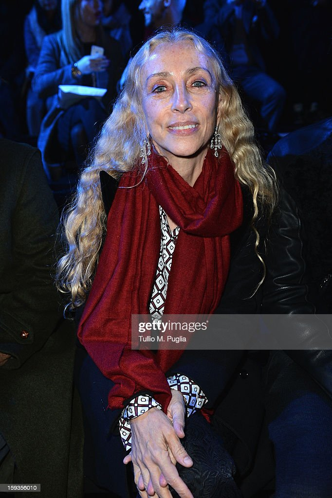 Franca Sozzani attends the Versace show as part of Milan Fashion Week Menswear Autumn/Winter 2013 on January 12, 2013 in Milan, Italy.
