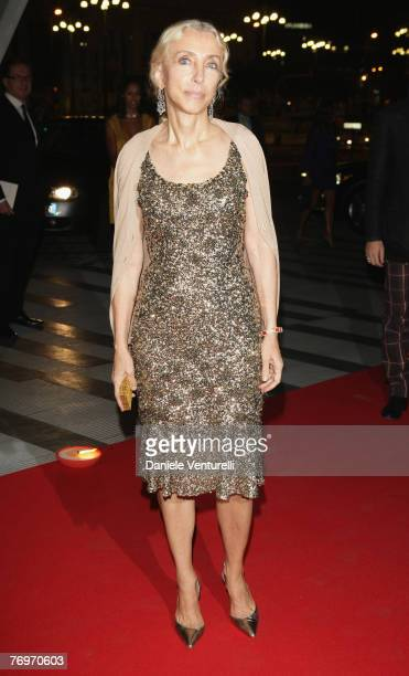 Franca Sozzani attends the Vivienne Westwood opening exhibition held at the Pirelli Tower as part of Milan Fashion Week Spring Summer 2008 on...