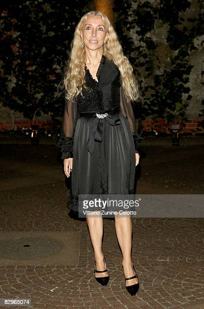 """Franca Sozzani, editor in chief of Vogue Italia attend the """"Russia 10 Years In Vogue"""" Party during Milan Fashion Week Spring/Summer 2009 on September..."""