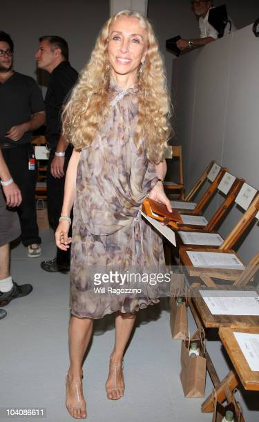 Franca Sozzani Editor in Chief of Vogue Italia attends the Rodarte Spring 2011 fashion show during Mercedes-Benz Fashion Week at Dia:Chelsea on...