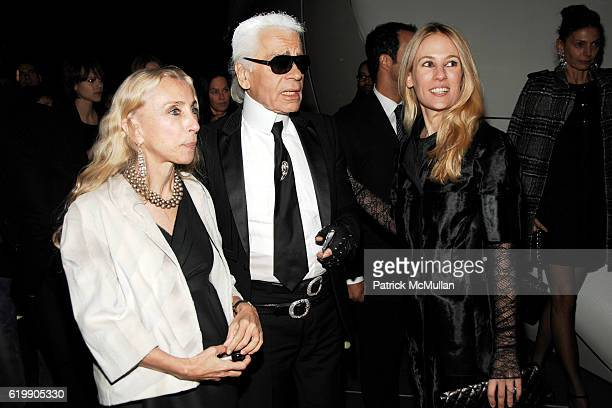 Franca Sozzani Karl Lagerfeld and Rebekah McCabe attend Opening Party for MOBILE ART CHANEL Contemporary Art Container in Central Park at Rumsey...