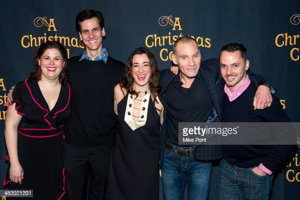 Franca Vercelloni Mark Price Jessie Shelton Peter Bradbury and Mark LightOrr attend the after party for the opening night of 'A Christmas Carol' at...