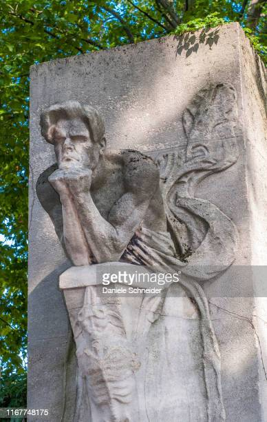 france, 14th arrondissement of paris, montparnasse cemetery, cenotaph of the poet charles baudelaire (1821-1867) - the cenotaph stock pictures, royalty-free photos & images