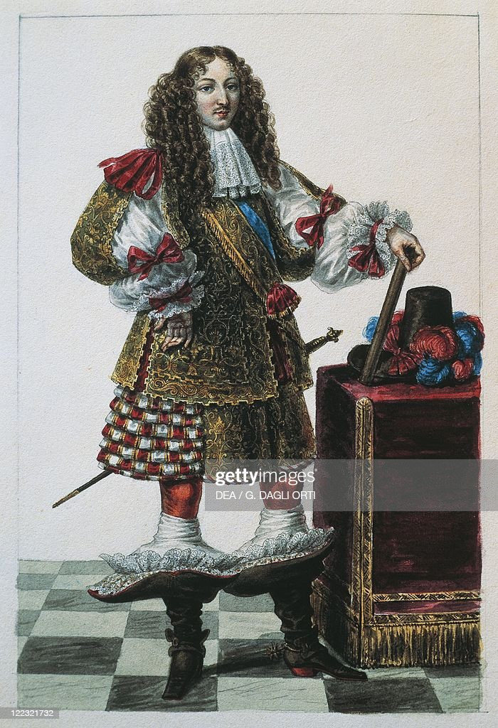 France, Portrait of Louis XIV of France (1638-1715), drawing : News Photo