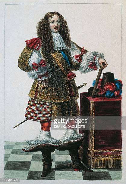 France 17th century Louis XIV of France at Age 22 1660 Drawing by Lante