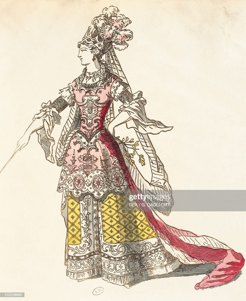 France, Paris, M.lle Rochois as Armide by Jean-Baptiste Lully, at premiere : News Photo