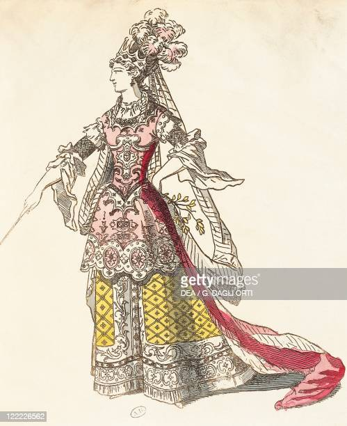 France 17th century Mlle Rochois as Armide music by JeanBaptiste Lully at première 1686