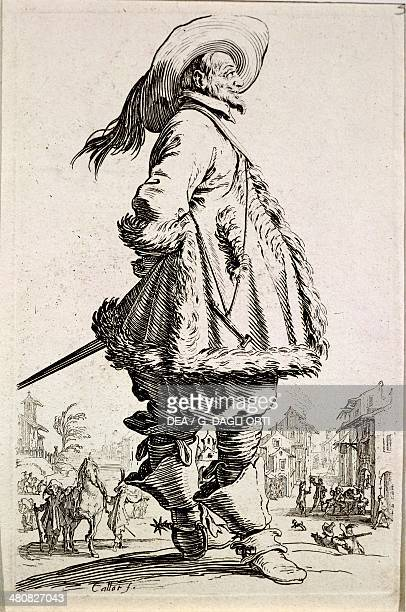 France 17th century The Musketeer Etching from the series La Noblesse by Jacques Callot Nancy Musée Historique Lorrain
