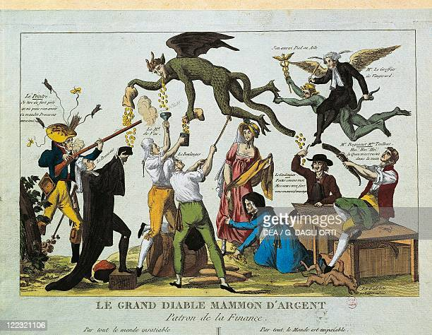 France 18th century French Revolution Caricaturized Devil Master of Finance 1790