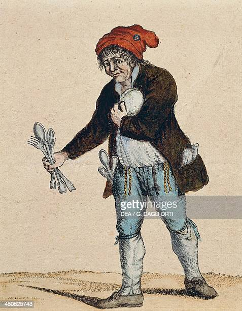 France 18th century French Revolution The president of a Revolutionary Committee after the seals are removed Caricature 1794 Paris Hôtel Carnavalet...