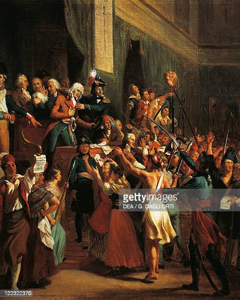 France 18th century Revolutionary Period Boissy d'Anglas saluting the Head of deputy Féraud in a painting of 1795