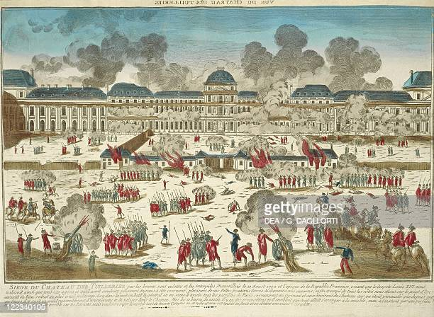 France 18th century Storming of the Tuileries