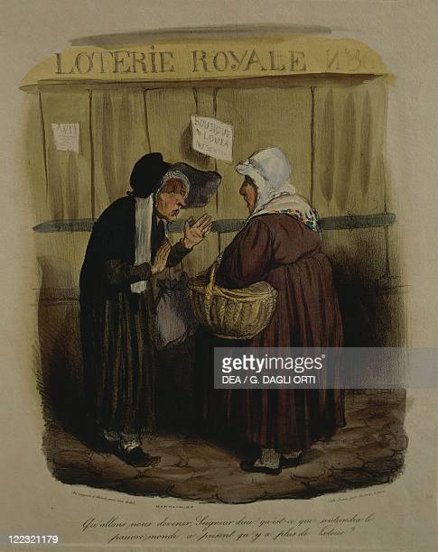 France 19th century Honoré Daumier The Royal Lottery caricature