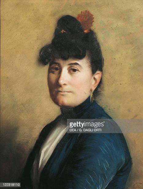 France 19th century Portrait of Madame Ravel mother of Maurice Ravel French composer in a pastel by her botherinlaw Edouard Ravel 1889
