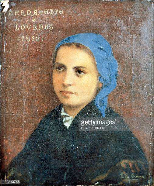 France 19thy century Portrait of Bernadette Soubirous French religious canonized as a Saint