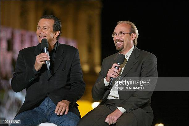 "France. 2 Special Tv Show To Celebrate The 100Th Anniversary Of The ""Tour De France"". On July 3, 2003 In Paris, France. Roland Giraud, Laurent Fignon"