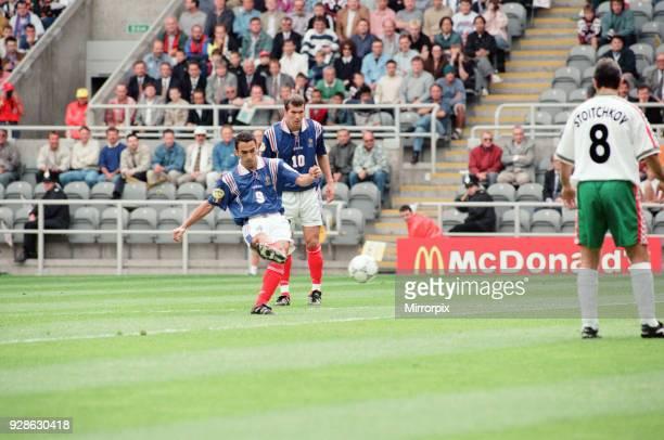 France 31 Bulgaria Euro 1996 Group B match at St James Park Newcastle Tuesday 18th June 1996 Youri Djorkaeff Zinedine Zidane Hristo Stoichkov