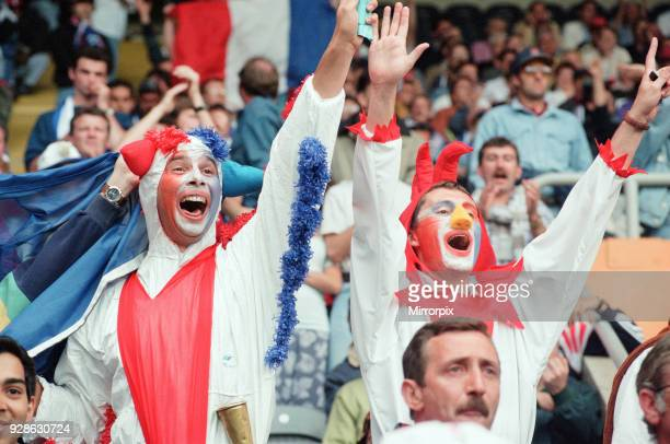 France 31 Bulgaria Euro 1996 Group B match at St James Park Newcastle Tuesday 18th June 1996 French Football Fans