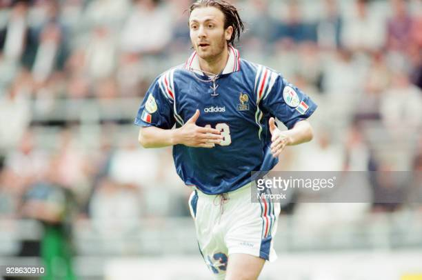 France 3-1 Bulgaria, Euro 1996 Group B match at St James Park, Newcastle, Tuesday 18th June 1996. Christophe Dugarry.