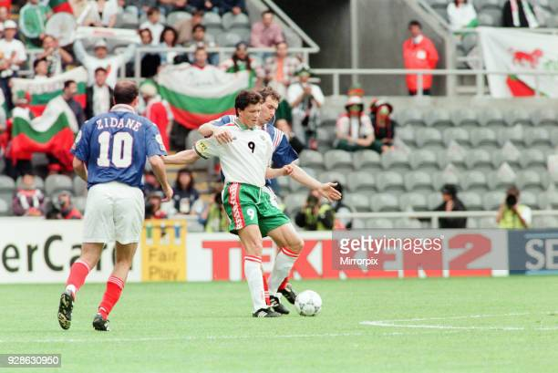 France 31 Bulgaria Euro 1996 Group B match at St James Park Newcastle Tuesday 18th June 1996 Lyuboslav Penev No9 Zinedine Zidane