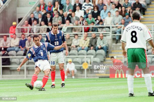 France 31 Bulgaria Euro 1996 Group B match at St James Park Newcastle Tuesday 18th June 1996 Youri Djorkaeff Zinedine Zidane