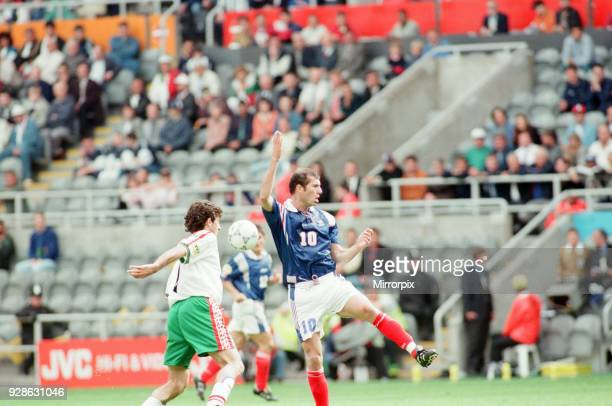 France 31 Bulgaria Euro 1996 Group B match at St James Park Newcastle Tuesday 18th June 1996 Zinedine Zidane