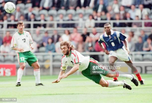 France 31 Bulgaria Euro 1996 Group B match at St James Park Newcastle Tuesday 18th June 1996 Trifon Ivanov diving header