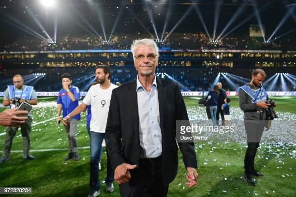 France 98 head coach Aime Jacquet following the Legends Game match between France 98 and Fifa 98 at U Arena on June 12 2018 in Nanterre France