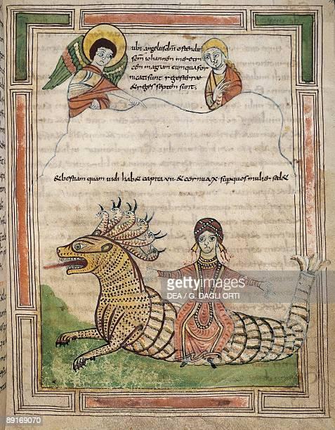 France 9th century Abbey of SaintAmand Illuminated Apocalypse Latin manuscript