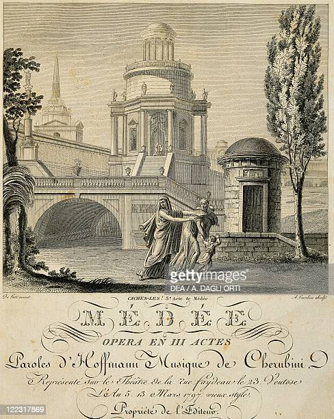 France A scene from act three of Medea by Luigi Cherubini performed in Paris in 1797 engraving