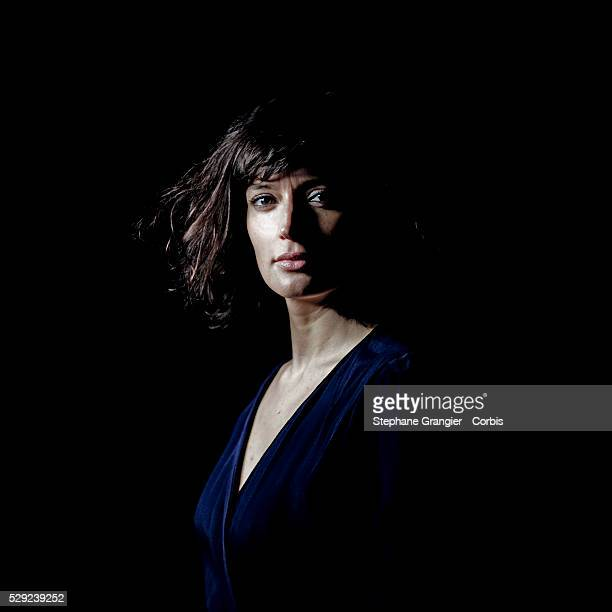 France Actress Helene Seuzaret Photographed in Montreuil France