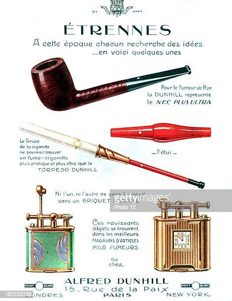 France Advertisement for Dunhill pipes, cigarette holders and lighters.