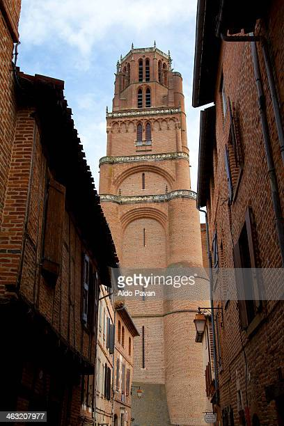 France, Albi, view of the Sainte Cecile cathedral