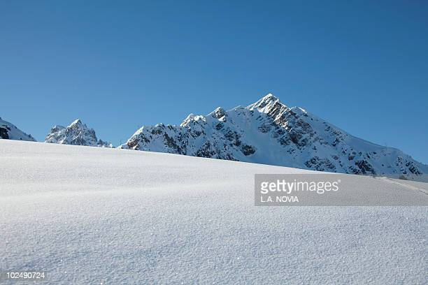 france, alps, fresh snow - courchevel stock pictures, royalty-free photos & images