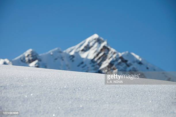 france, alps, fresh snow - courchevel photos et images de collection