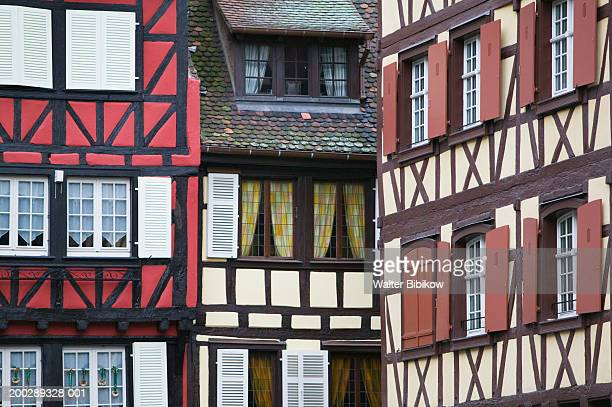 france, alsace (haut rhin), colmar, half timbered house exteriors - ハーフティンバー様式 ストックフォトと画像