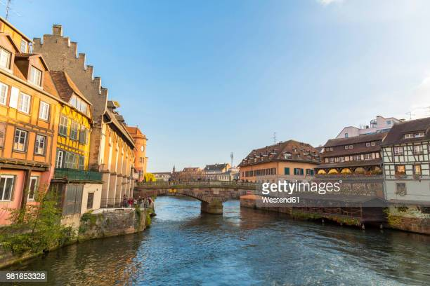 france, alsace, strasbourg, la petite france in autumn - strasbourg stock pictures, royalty-free photos & images