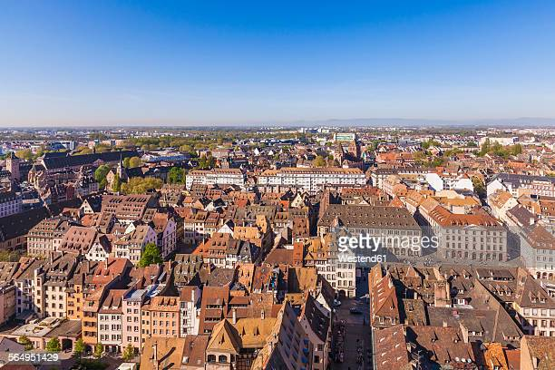 France, Alsace, Strasbourg, Old town, view to Minster