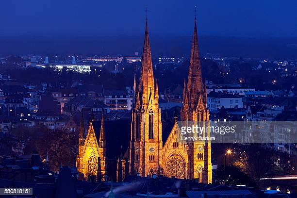 France, Alsace, Strasbourg, St Pauls church