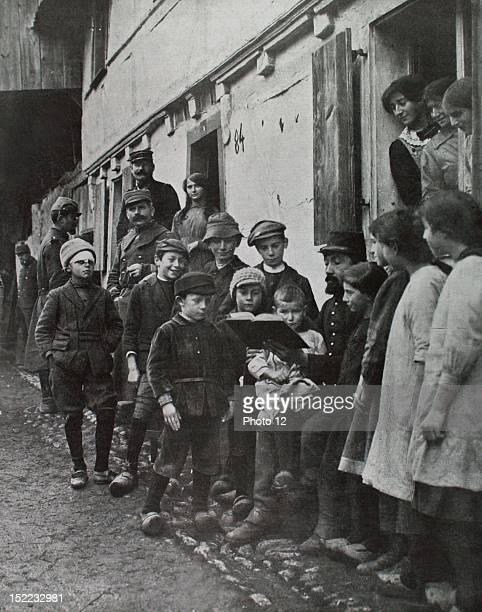France Alsace World War I Lesson of French to the Alsatian pupils at SoppeleBas
