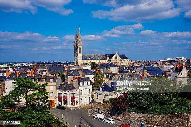 France, Angers, the city and St Maurice Cathedral