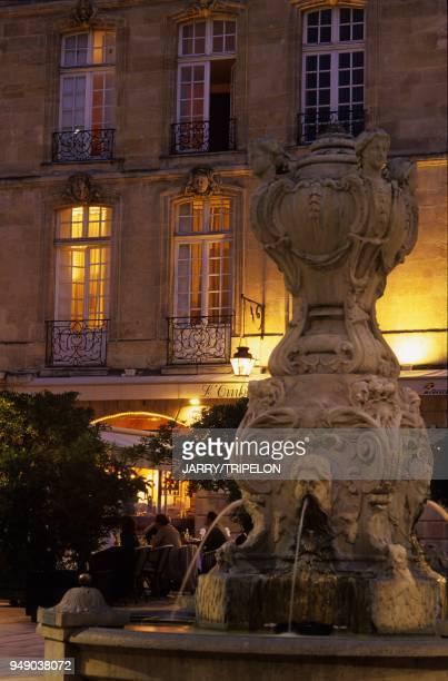 France Aquitaine Gironde 33 Bordeaux Vieux Bordeaux Saint Pierre district Parlement Square called before Royal Market Square built in 1760 neo...