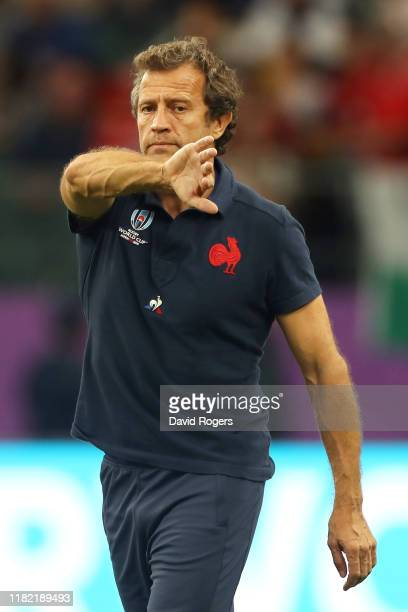 France Assistant Coach Fabien Galthie looks on prior to the Rugby World Cup 2019 Quarter Final match between Wales and France at Oita Stadium on...