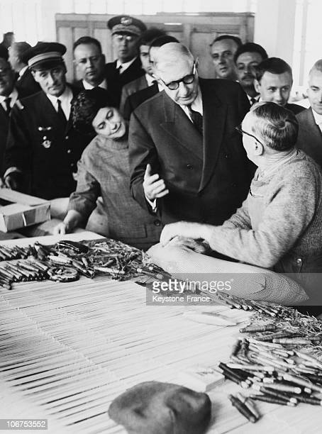 France Aubusson The President De Gaulle Visiting The Tapestry Workshops May 19Th 1962