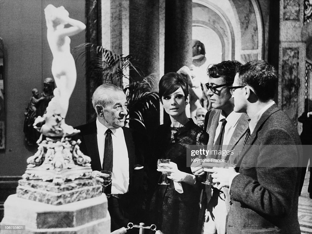 France, Audrey Hepburn, Peter O Toole And William Wyler During A Cocktail. November 30Th 1965